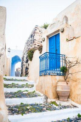 Fototapet Gammal gata i Pyrgos by