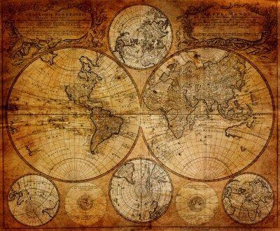 Fototapet Gammal karta (1746)