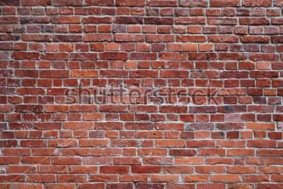 Fototapet gammal röd tegelsten textur bakgrund