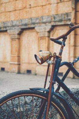 Fototapet Gammal rost cykel