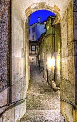 Fototapet Gata i gamla staden, Geneve, Schweiz