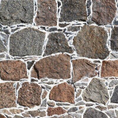 Fototapet Gatsten vägg fragment textur
