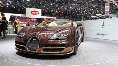 Fototapet Geneve, Schweiz - 2 Mars 2014: 2014 Bugatti Veyron Rembrandt Bugatti presenteras på den 84: e internationella bilsalongen i Genève