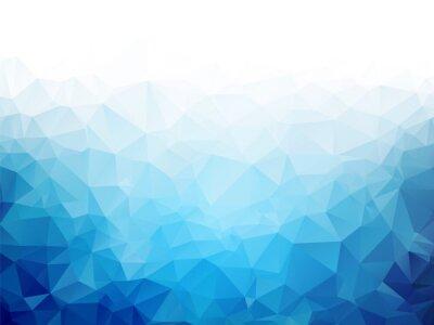 Fototapet Geometrisk blå is konsistens bakgrund