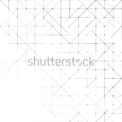 Fototapet Geometrisk enkel minimalistisk bakgrund. Trianglar prickat mönster. Vektorillustration