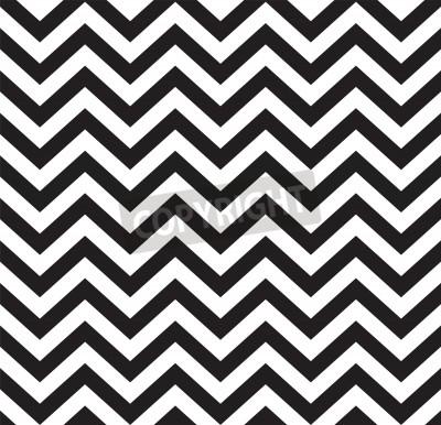 Fototapet Geometrisk zigzag sömlös mönster Vektor illustration