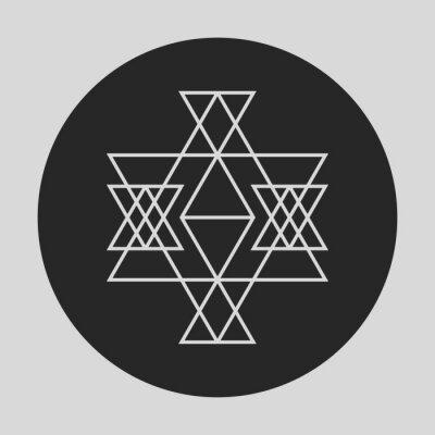 Fototapet Geometriskt grafiskt element