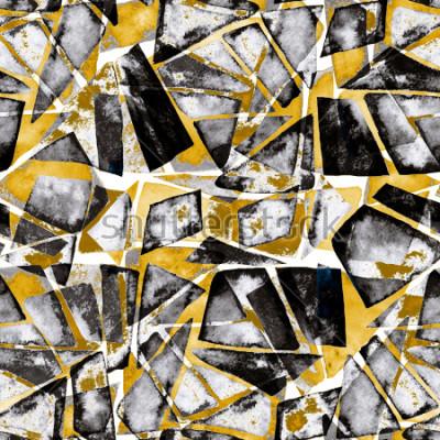 Fototapet Geometriskt mönster. Abstrakt vattenfärgstekstur i modern stil.