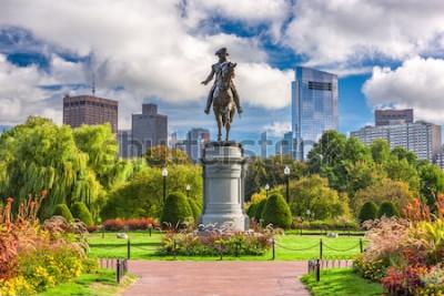 Fototapet George Washington Monument på Public Garden i Boston, Massachusetts.
