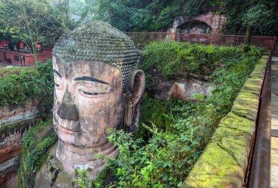 Fototapet Giant Buddha (Da fo) - Leshan, Sichuan, Kina
