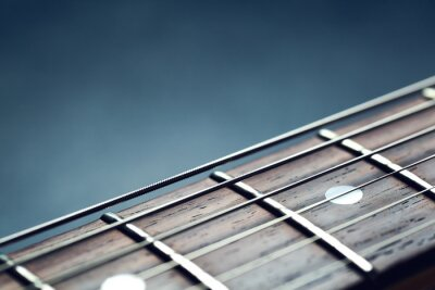 Fototapet Gitarrhalsen närbild