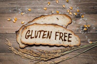 Fototapet Glutenfri logo grillad på bröd