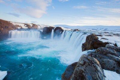 Fototapet Godafoss vattenfall, Island