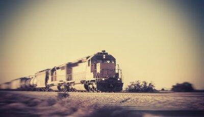 Fototapet Godståg resa genom öknen Arizona