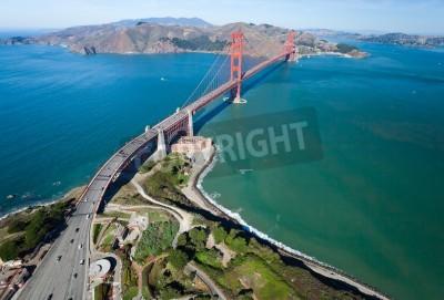 Fototapet Golden Gate Bridge i San Francisco Bay