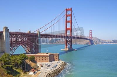 Fototapet Golden Gate Bridge i San Francisco, USA.