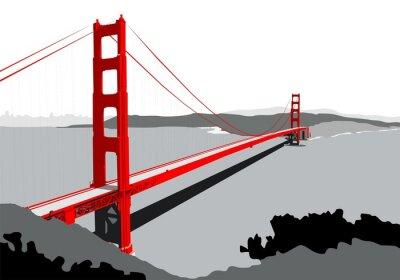 Fototapet Golden Gate-bron