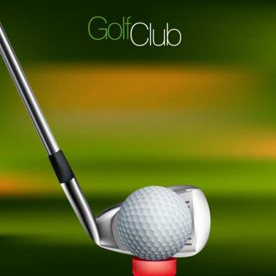 Fototapet Golf Bakgrund Alla element finns i separata lager och grupperas.