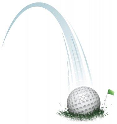 Fototapet golfboll åtgärd