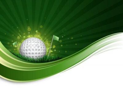 Fototapet golfboll våg