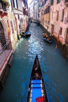 Fototapet Gondol på kanalen i Venedig, Italien