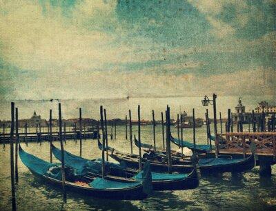 Fototapet Gondol. Venedig