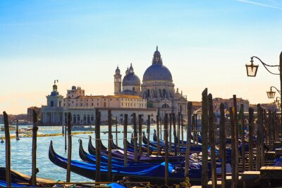 Fototapet Gondoler, Venedig