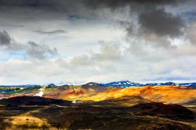Fototapet góra świateł