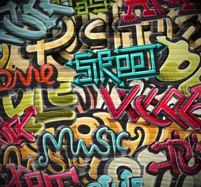 Fototapet graffiti bakgrund