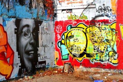 Fototapet graffiti: Bakgrund