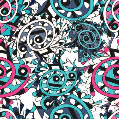 Fototapet Graffiti bakgrund sömlös textur