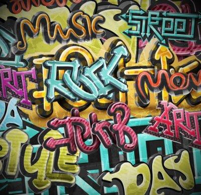 Fototapet Graffiti grunge bakgrund