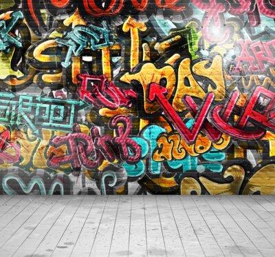 Fototapet Graffiti på väggen