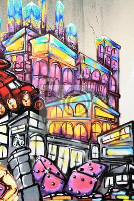 Fototapet Graffiti - Street art