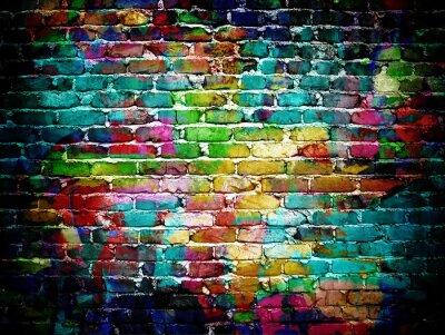 Fototapet graffiti tegelvägg