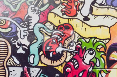 Fototapet Graffitis colores