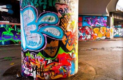 Fototapet graffitti Vägg