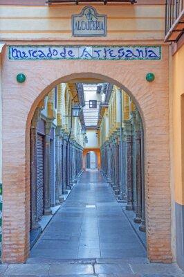 Fototapet Granada - Den Alcaiceria marknaden i morgon