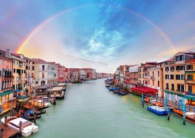 Fototapet Grand Canal - Venedig från Rialtobron