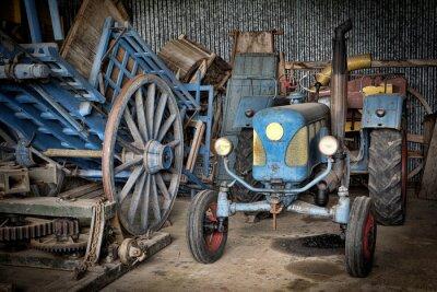 Fototapet grange et tracteur