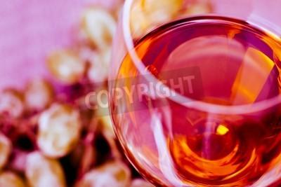 Fototapet Grape och vin