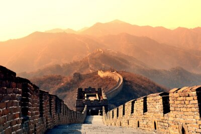 Fototapet Great Wall morgon