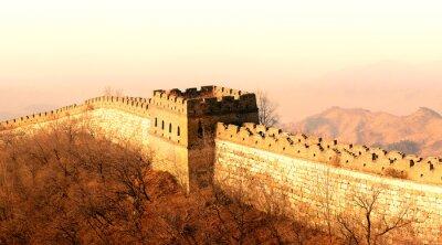 Fototapet Great Wall solnedgång