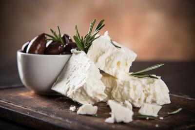Fototapet Grekisk ost feta