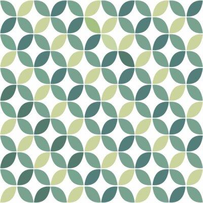 Fototapet Grön geometriska Retro sömlösa mönster