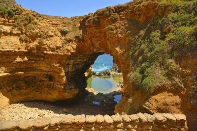 Fototapet Grottan längs Great Ocean Road.