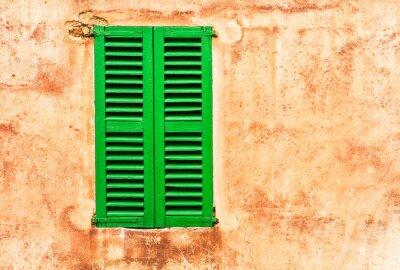 Fototapet Grüne Fensterläden Haus Wand Medi Wohnen