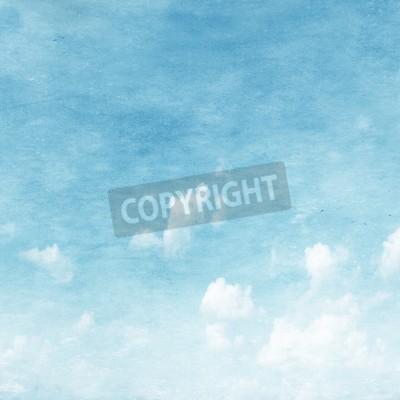 Fototapet Grunge bild av blå himmel.