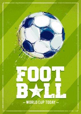 Fototapet Grunge fotboll affisch