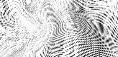 Fototapet Grunge halftone dots pattern texture background